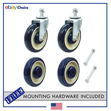 """Shopping Cart Wheels   5"""" Stem Casters Wheel Universal Replacement Kit 4-pack"""