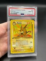 PSA 10 1st Edition Raichu 29/62 Fossil Set Pokemon Card VINTAGE WOTC