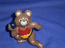 Vintage Shotputter Misha Bear 1980 Russia Olympics Mascot PVC Figure 3 in