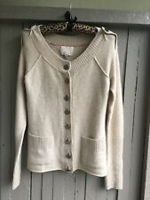 Banana Republic Button Front Cashmere Cardigan Sweater Oatmeal Size Small Pocket
