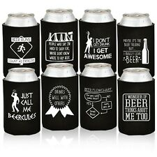 Funny Beer Can Coolers - 6 Pack Party Favor Drink Coolies - Gag Gifts for Men.