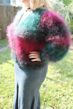 Extra fuzzy fluffy furry oversized long hair mohair cardigan in amazing colors!