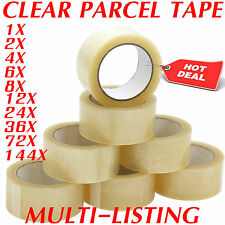 CLEAR STRONG PARCEL PACKING TAPE CARTOON SEALING 48MM X 66M SELLOTAPE PACKAGING