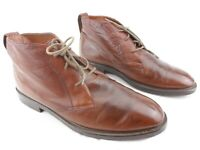 Stacy Adams Brown Leather Chukka Ankle Boots Lace Dress Mens Size 11 M