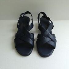 Paradise Bay Black Wedge Heel Sandal Size 8 1/2
