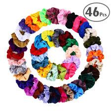 46 × Haargummi Haarschmuck Samt Haarband Zopfband Zopfgummi Velour Scrunchie