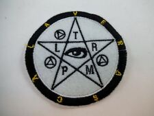 Brand New Pagan Wiccan Iron On Patch Black Metal GOTH Death rock Satanic Magick