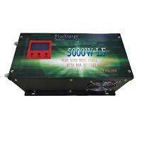 Inversor convertidor 5000w Onda Pura Inverter 12V 24V to AC 220V+LCD+Cargador