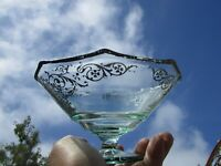 Vintage Candy Dish Silver Overlay Glass Greek Urns Footed Pedestal Bowl