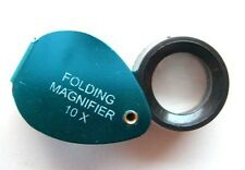 Folding Jewelers Loupe/ Magnifier- 10x mag,15mm glass