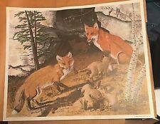 1969 GENE GRAY AMERICAN RED FOX HAND SIGNED ARTIST PROOF 32/100 PRINT