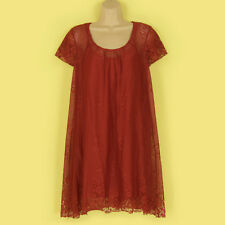 NEW FABULOUS COLOUR PRETTY LACEY LINED CAP SLEEVE TUNIC SUMMER DRESS SIZE 8-10