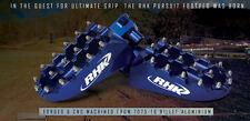 RHK CNC Aluminium Wide Foot Pegs Suzuki DRZ400SM All Years Blue Alloy F06B