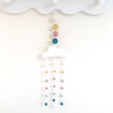 Pastel Cloud mobile. Ma première pièce. Cloud Nursery Decor. Organic Nursery. Feutre