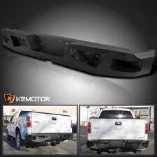 2006-2014 Ford F150 Black Heavy Duty HD Steel Rear Step Bumper Face Bar Assembly