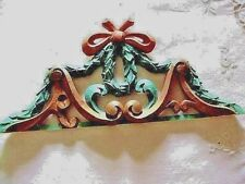 Beautiful  Hand carved Picture/ Mirror Topper/Over Door  Wood  Germany