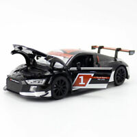 1:32 Audi R8 LMS 2015 Model Car Alloy Diecast Gift Toy Vehicle Kids Black Sound