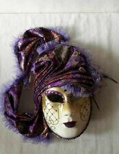 Venetian mask original decorative handmade carnival mask purple vintage