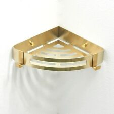 Brushed Gold Stainless Steel Shower Caddy Organiser Corner Basket Storage Shelf