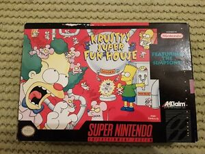 Krusty's Super Fun House Super NintendoSNES  NSTC  CIB The Simpson's