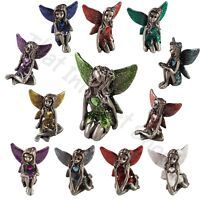 Pewter Fairy Birthstone Collectables Fairies Gemstone Ornament Gift Boxed