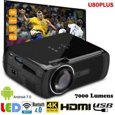 Mini LED Beamer WiFI Android Full HD 1080P Projektor HDMI BT Quad-Core