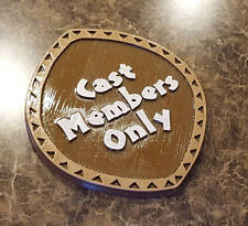 Circular Polynesian Themed Cast Members Only Sign / Plaque
