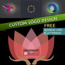 Professional Custom Logo Design with Business Card, Letterhead + Source Files
