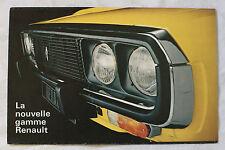 RENAULT 1972 brochure sales catalog - CANADIAN QUEBEC MARKET
