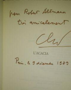 Claude SIMON - Edition Originale numérotée - Envoi / dédicace