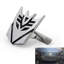3d Car Transformers Decepticon Front Grille Grill Badge Emblem Decals Chrome D