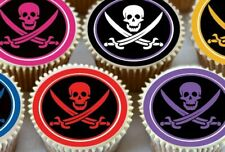 24 X PIRATE FLAG MIXED CUPCAKE TOPPERS PREMIUM RICE PAPER OLYMPICS 3848