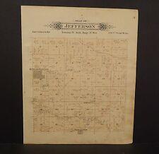 Iowa Butler County Map Jefferson Township 1895  L11#38