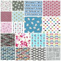 Kids Fabric - 100% COTTON Children prints, animals, cars - Fat Quarter Quilting
