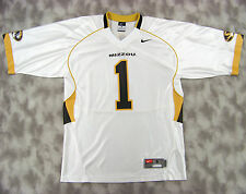 Nike Team Mens Missouri Tigers Screened Football Jersey #1 Sz Small White Mizzou