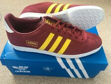 Adidas Originals Gazelle trainers - size UK12 - Burgundy(Red)/Yellow BNIB