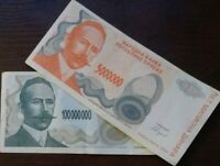BOSNIA 5 & 100 Million Dinara Banja luka 1993