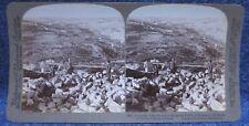 Palestine Jerusalem across Valley of Hinnom to Mount Olives Underwood Stereoview