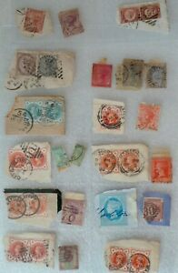 COLLECTION OF QUEEN VICTORIA STAMPS - TWO PENCE, ONE PENNY, 2 1/2d, 1/2d