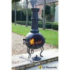La Hacienda Large Murcia steel chimenea - BBQ 56062B - Super Fast Delivery