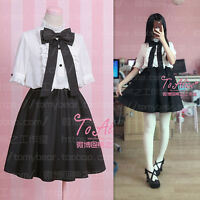 New Chiffon Elegant Bow Kawaii Lolita Harajuku Gothic Sweet Vintage Dress Suit