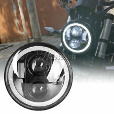 5.75 LED Black Daymaker Headlight Angle Eye Fr Harley Street 750 X48 Iron XL883N