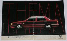 Advert Pubblicità 1987 LANCIA THEMA 8.32