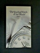 More details for the leading hotels of the world 2003 directory, paperback book, rolex cover