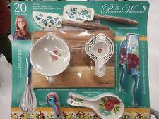 The Pioneer Woman CLARA print 20 Piece Pcs Accessories & Gadget Kitchen Set 2018