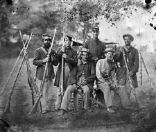 New 11x14 Civil War Photo: Group of Unidentified Soldiers with Musket & Bayonet