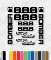 Marzocchi BOMBER 888 Decals / Stickers 2005 Style - Custom / Fluorescent Colour