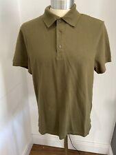 Mens WoolOvers Safari Green Polo Shirt Top Size M BNWT