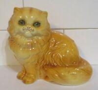 Vintage Goebel Persian Cat Porcelain Figurine #3102512 Green Eyes Mint Condition