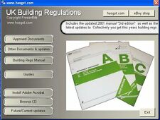 2001-2018 UK Building Regulations regs CD et guides pour Windows & appareils mobiles